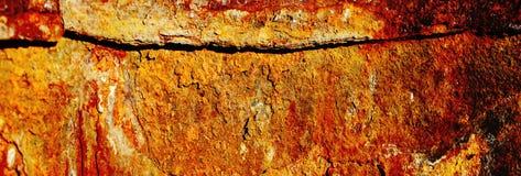 Kruszcowy ośniedziały tło z starą farbą podławą i porysowaną z korodowaniem Zdjęcie Royalty Free