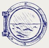 Kruszcowy porthole Zdjęcia Stock
