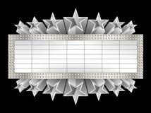 Kruszcowy sztandar Zdjęcia Stock