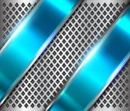 Kruszcowy tła srebra błękit ilustracji