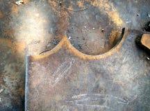 kruszcowy talerz Zdjęcie Royalty Free