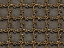 Kruszcowy wz?r barelief bezszwowe tekstury, sk?ada si? r??norodnych elementy architektoniczni ornamenty i dekoracyjny ilustracja wektor