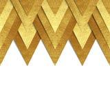 Kruszcowy złoto papieru granicy tło Zdjęcia Stock