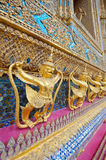 (Krut) A half bird god, guardian in Wat Phra Kaew, Royalty Free Stock Photos