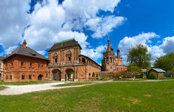 Krutitskoe Compound Cathedral in Moscow Russia. Cathedral on the historic street in Moscow Russia - Krutitskoe Compound Royalty Free Stock Photography