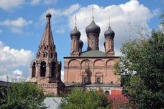 Krutitskoye podvorye (borggård) i Moskva Royaltyfria Bilder