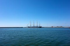 Kruzenshtern. Large four masts windjammer Kruzenshtern at the port of Alexandroupolis - Greece Stock Photography