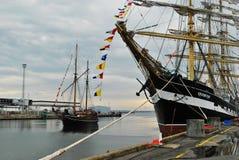 Kruzenshtern. Sailing ship at the pier Royalty Free Stock Photography
