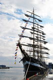 Kruzenshtern. Sailing ship at the pier Royalty Free Stock Image