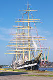 Kruzenshtern ship in Kaliningrad Royalty Free Stock Photos