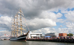 kruzenshtern statek Tallinn Fotografia Royalty Free