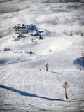Krvavec skiing Royalty Free Stock Photography