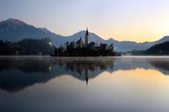 krwawiąca wyspa Slovenia obrazy royalty free