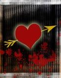 krwawiące serce miłości ilustracja wektor