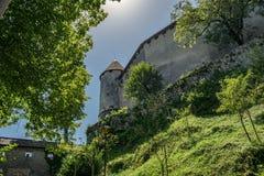 Krwawiący Grodowy pobliski jezioro Krwawił w Slovenia, Europa obraz royalty free