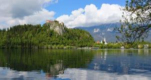krwawiąca jeziorna panorama Slovenia Zdjęcie Royalty Free