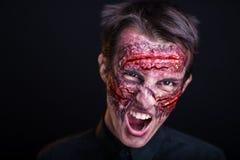 Krwawiąca twarz Zdjęcia Royalty Free
