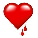 krwawiące serce Obrazy Stock