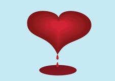 Krwawiący serce Zdjęcie Royalty Free