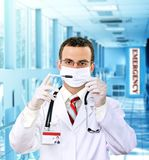 krwi doktorski medyczny resarch strzykawki test Obraz Royalty Free