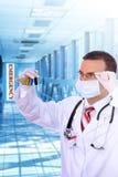 krwi doktorski szklany medyczny resarch test Zdjęcie Royalty Free