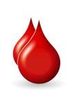 Krwi kropla Zdjęcia Royalty Free