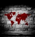 Krwionośna światowa mapa Obrazy Royalty Free