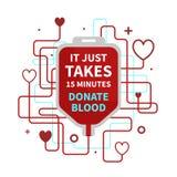 Krwionośna darowizna infographic ilustracji