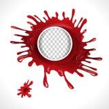 Krwionośna splatter okręgu rama Zdjęcia Stock