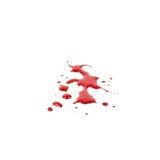Krwionośne plamy odizolowywać na białym tle ilustracji