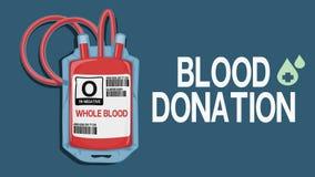 Krwionośnej darowizny sformułowania z odosobnioną krwionośną torbą royalty ilustracja