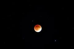 Krwionośny księżyc zaćmienie Fotografia Stock