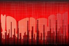 Krwionośny miasta Grunge Obraz Royalty Free
