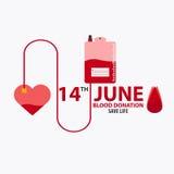 Krwionośnej darowizny sztandar Medyczna ilustracyjna Wektorowa ilustracja Obrazy Royalty Free