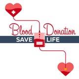 Krwionośnej darowizny sztandar Medyczna ilustracyjna Wektorowa ilustracja Obraz Stock
