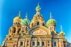 krwionośny kościelny Petersburg Russia wybawiciel rozlewający st Fotografia Royalty Free