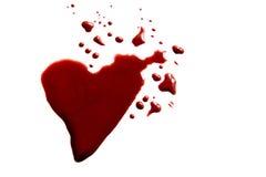 Krwista kierowa kształt kałuża Zdjęcia Stock