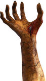 Krwista Zła potwór ręka Odizolowywająca obrazy stock