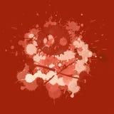 Krwisty czaszki splatter ilustracja wektor