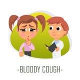 Krwisty kaszlowy medyczny pojęcie również zwrócić corel ilustracji wektora ilustracja wektor