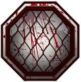 Krwisty MMA ośmioboka znak ilustracja wektor