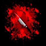 Krwisty nożowy abstrakcjonistyczny tło royalty ilustracja