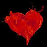 krwisty serce Obrazy Stock