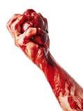 Krwisty serce w męskiej ręce Zdjęcie Royalty Free