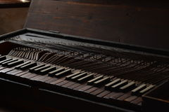 An old piano. An exclusive photo for using in newspapers, on websites etc Stock Photos