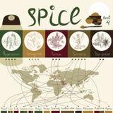 Krydda av världen - part4 Arkivbilder