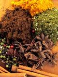 krydda för 5 mix Arkivfoto