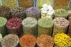 Krydda Souk - Deira Arkivbilder
