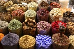 Krydda Souk, Dubai Royaltyfri Bild