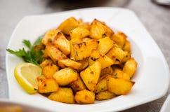 Kryddade potatisar för libanes Royaltyfri Fotografi